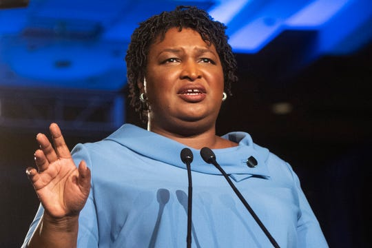 Democrat Stacey Abrams delivers her party's response to President Donald Trump's State of the Union address.