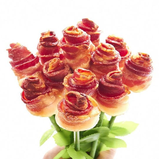 BaconAddicts.com's bacon roses sell out every year.