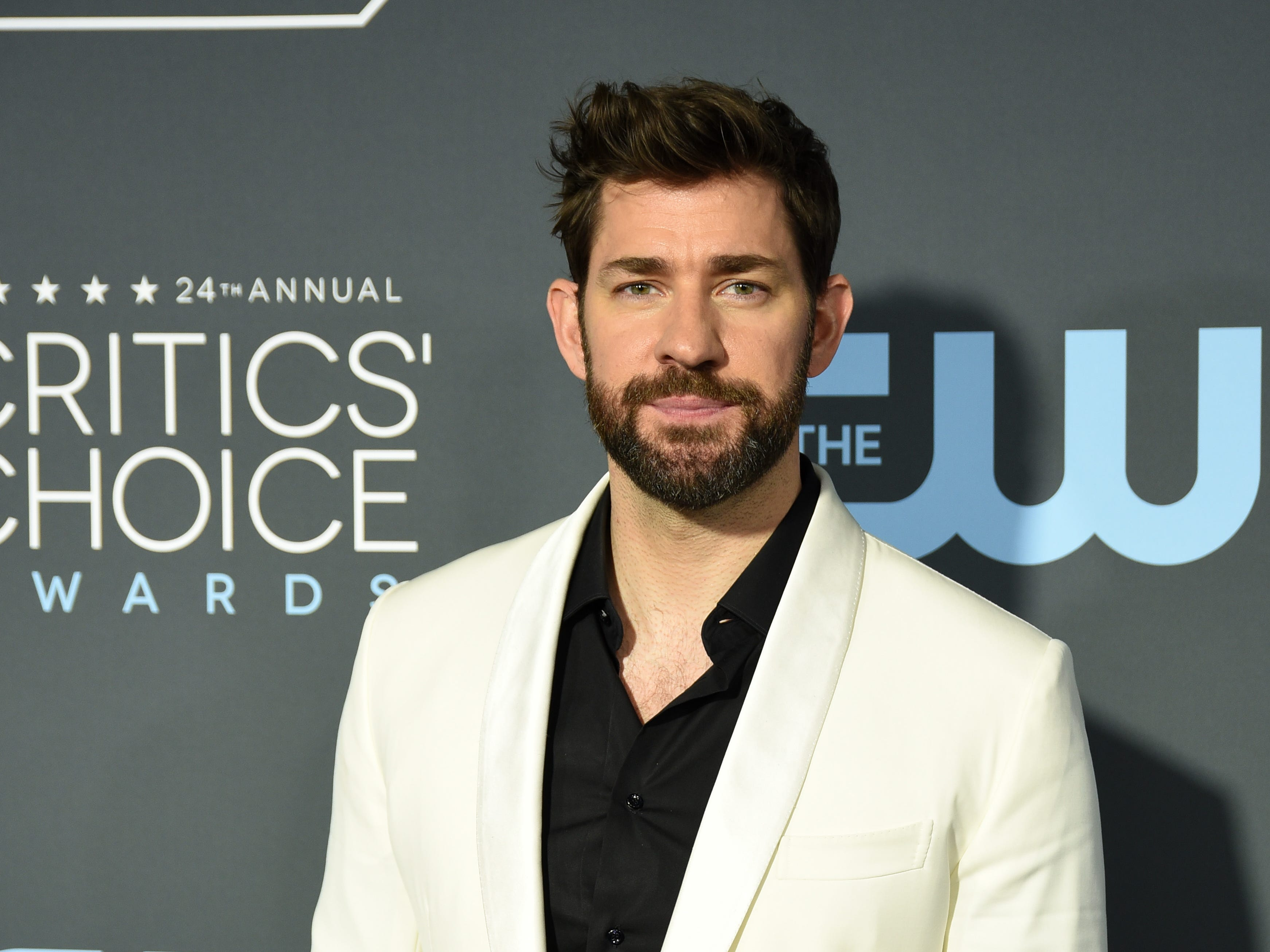SANTA MONICA, CALIFORNIA - JANUARY 13: John Krasinski at The 24th Annual Critics' Choice Awards at Barker Hangar on January 13, 2019 in Santa Monica, California. (Photo by Presley Ann/FilmMagic) ORG XMIT: 775260313 ORIG FILE ID: 1093766152