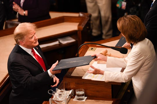 President Donald Trump delivers the State of the Union address Tuesday, Feb. 5, 2019, in Washington, D.C.