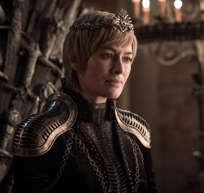 Lena Headey as Cersei on