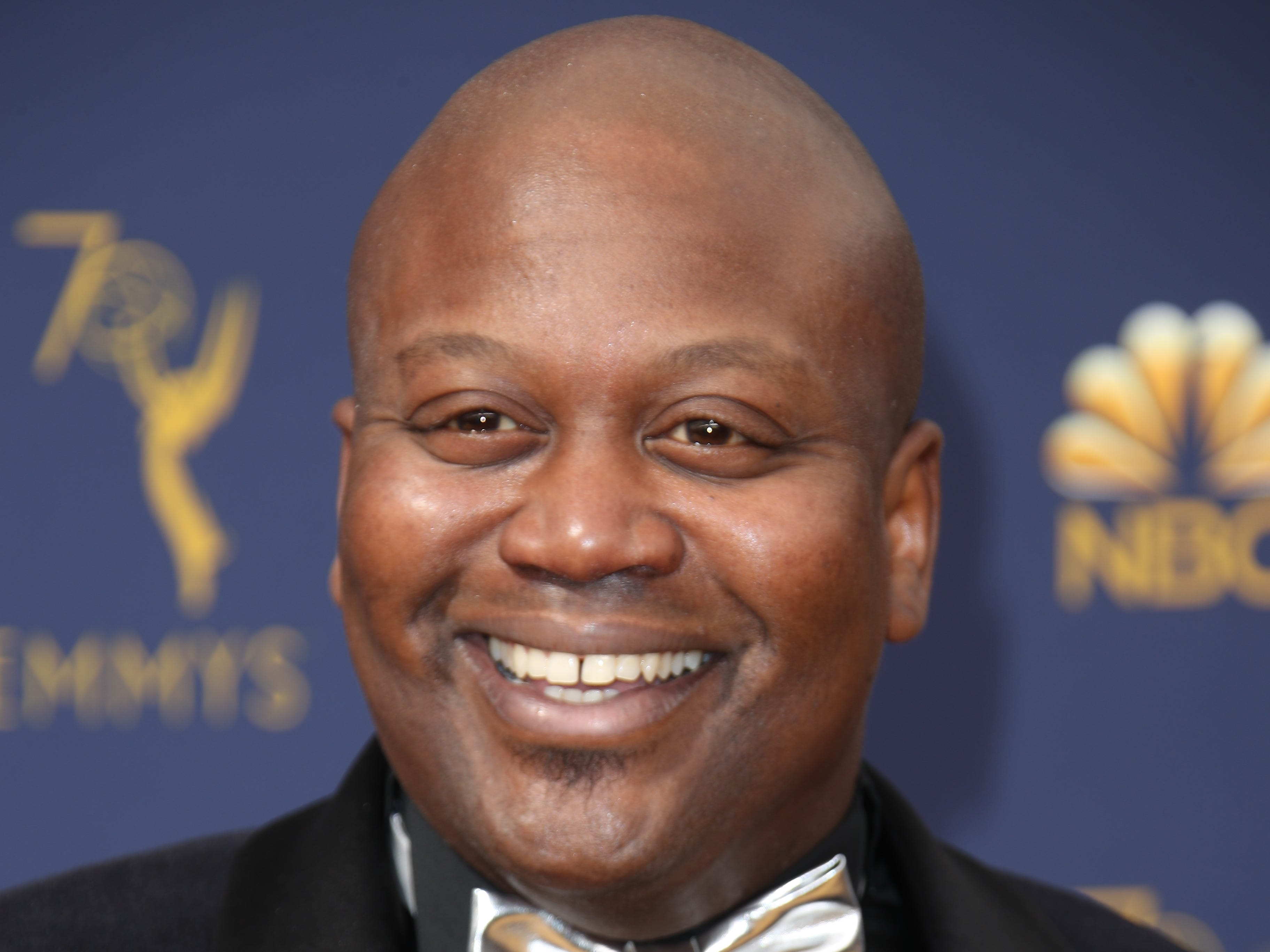 Sep 17, 2018; Los Angeles, CA, USA; Tituss Burgess arrives for the 70th Emmy Awards at the Microsoft Theater. Mandatory Credit: Dan MacMedan-USA TODAY (Via OlyDrop)