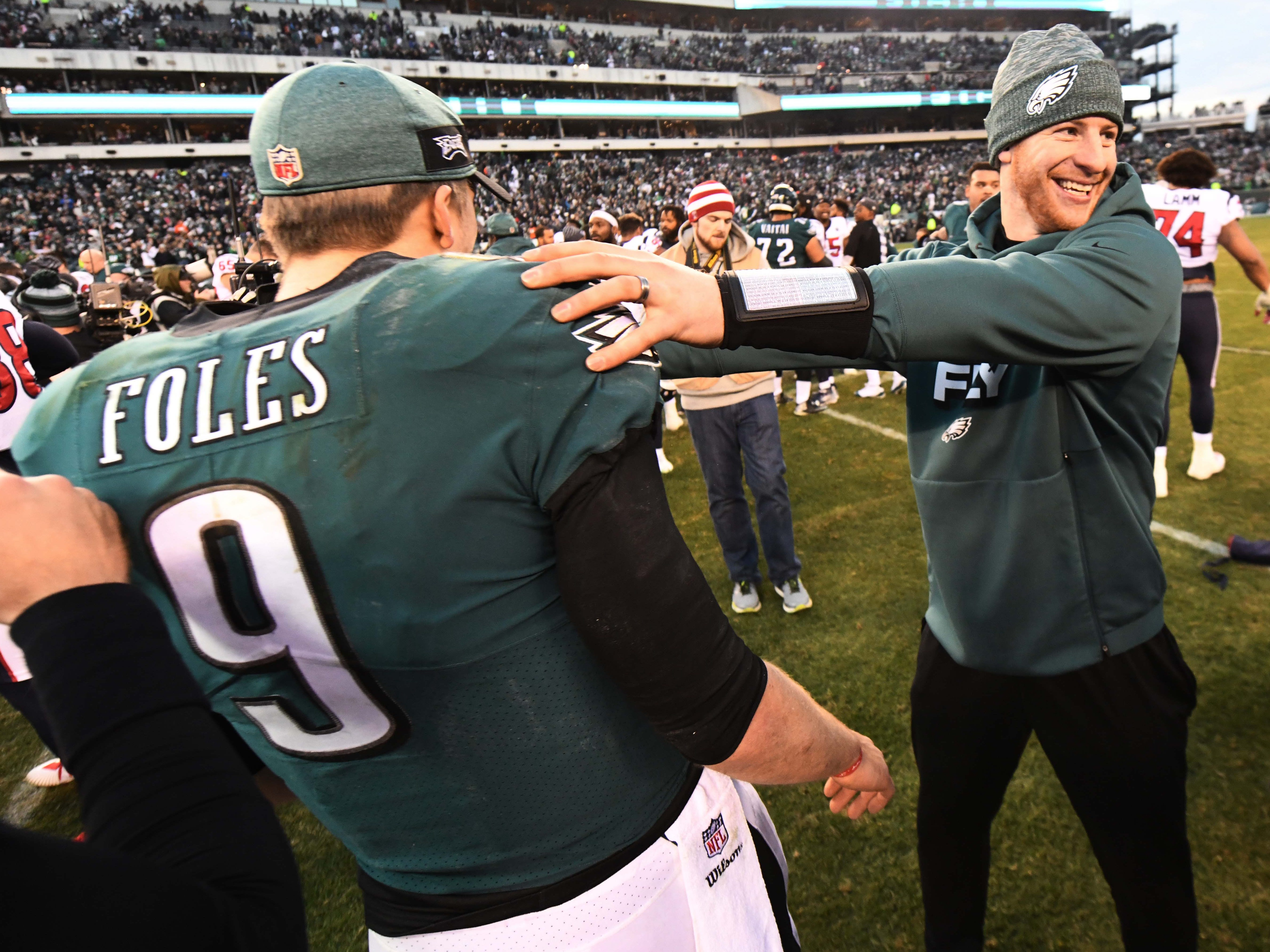 9. Eagles (12): Will they be better or not with Carson Wentz at controls for playoff run? What will presumed trade of Nick Foles do for roster enhancement?