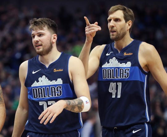 Luka Doncic and Dirk Nowitzki.