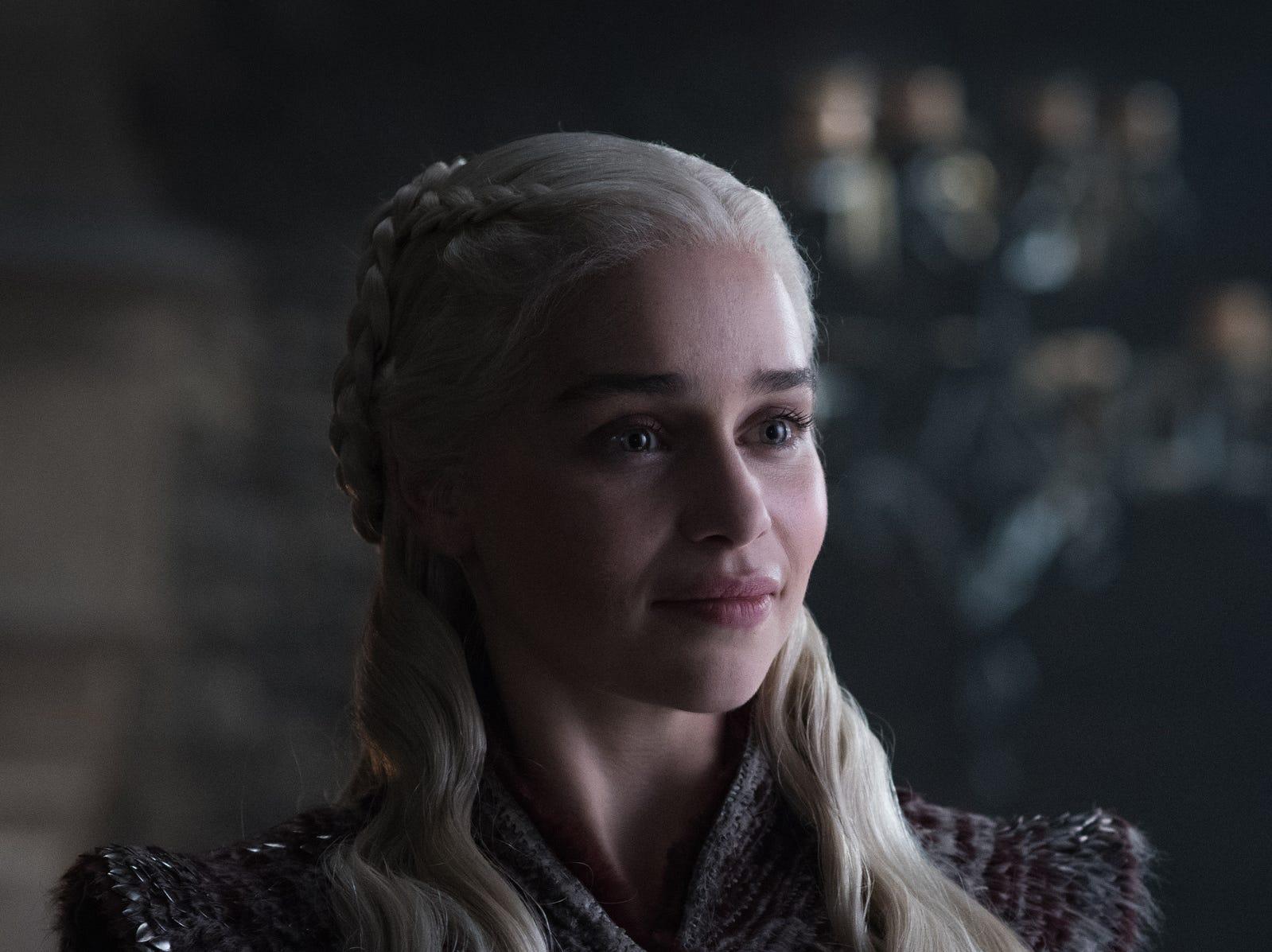 "Emilia Clarke as Daenerys on ""Game of Thrones."""