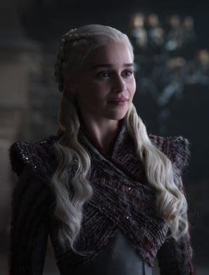 Emilia Clarke as Daenerys on