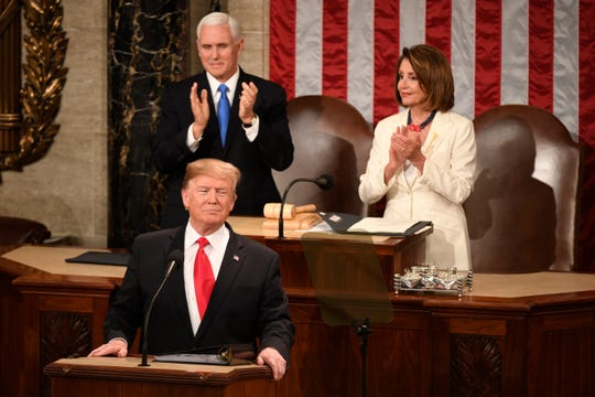 President Donald Trump delivers the State of the Union address.