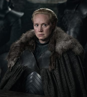 Gwendoline Christie as Brienne of Tarth on