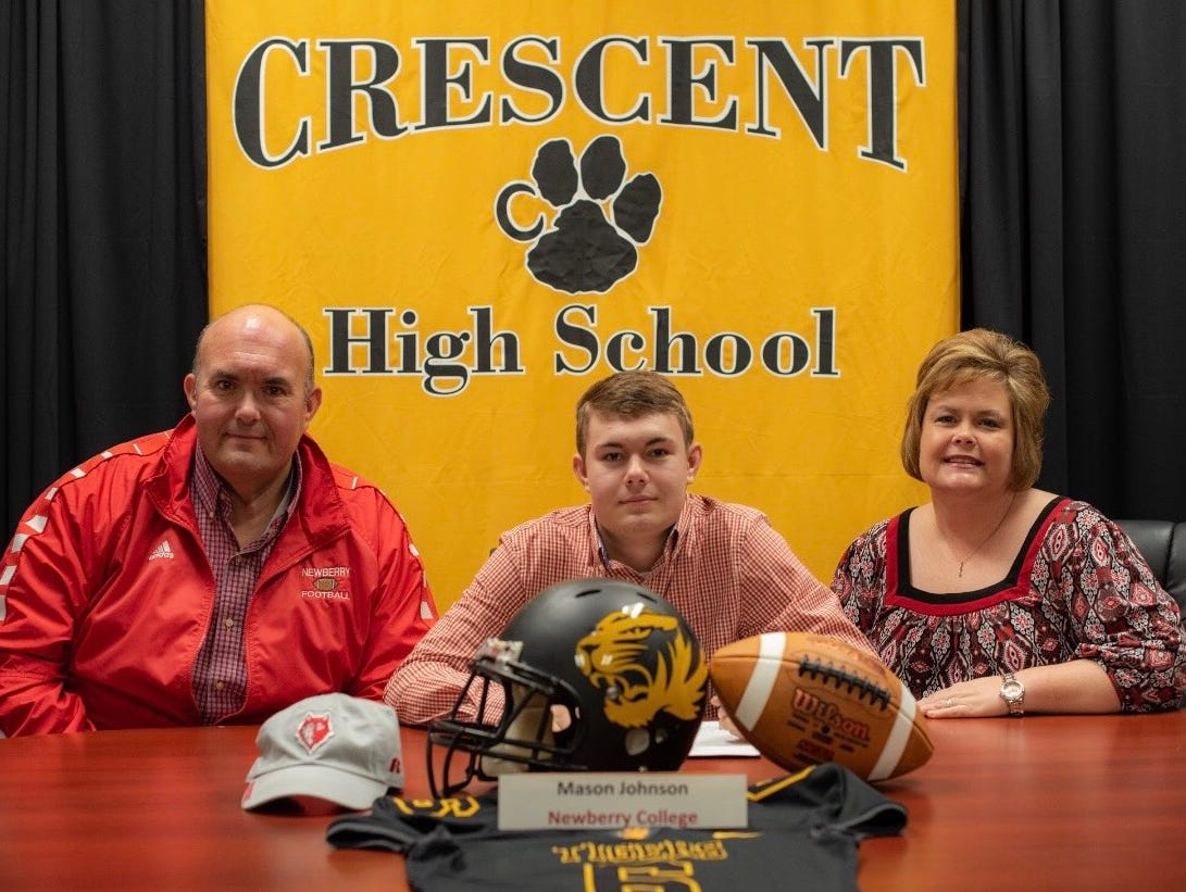 Crescent senior Mason Johnson has signed to play football at Newberry College