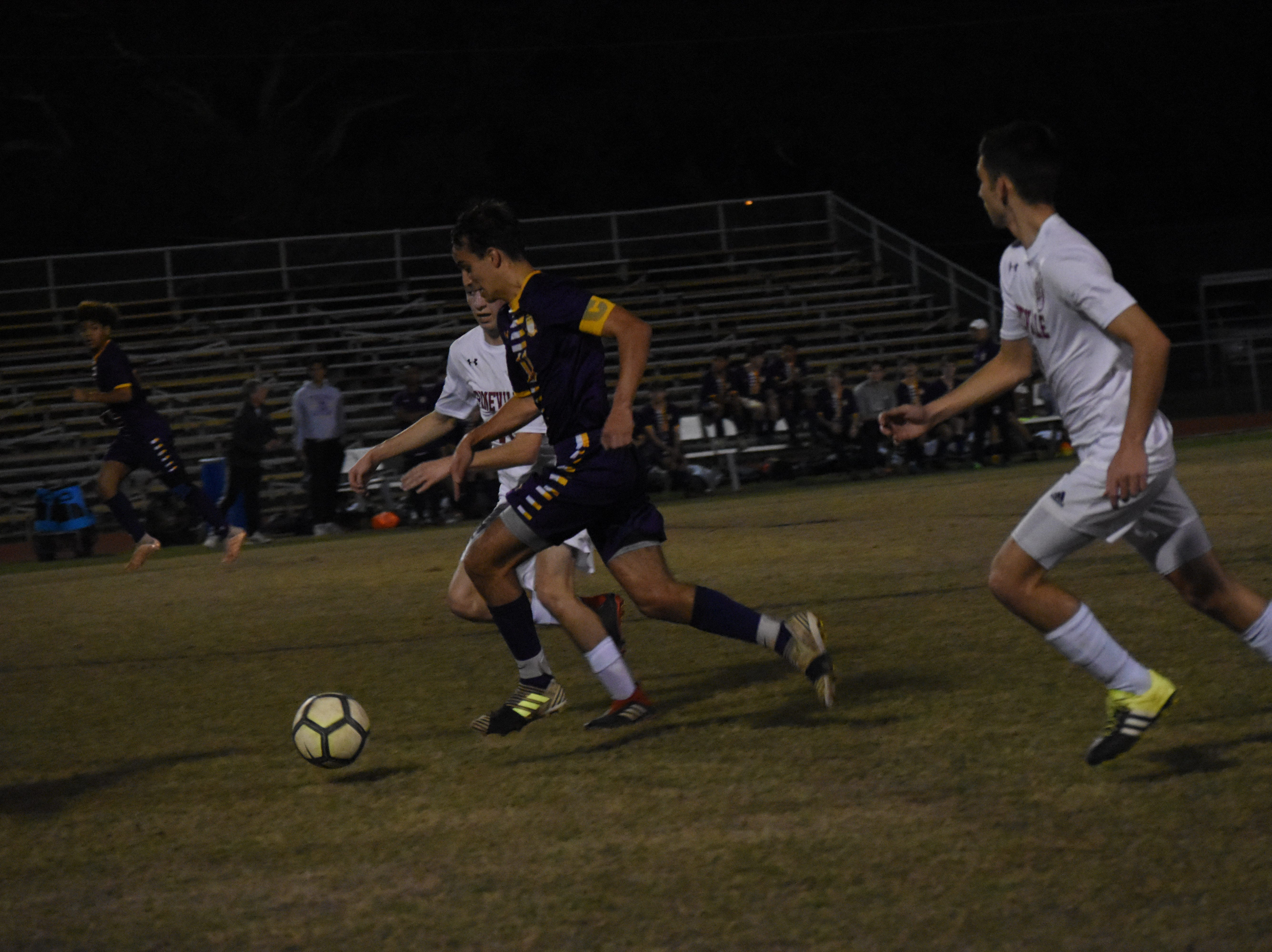 Alexandria Senior High School boys soccer hosted Pineville High School in the Division I regionals held Wednesday, Feb. 6, 2019. ASH won 4-3.