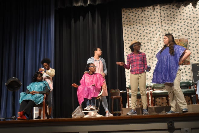"Bolton High School students hold rehearsal for a production of ""Steel Magnolias."" The Rapides Parish School Board has approved almost $164,000 in start-up costs for the newly approved Bolton Conservatory for Performing and Visual Arts, which already has started recruiting students."