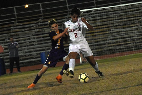 Pineville's Ridha Alkaabi (8) was named as the All-Cenla boys overall MVP by the area's coaches.