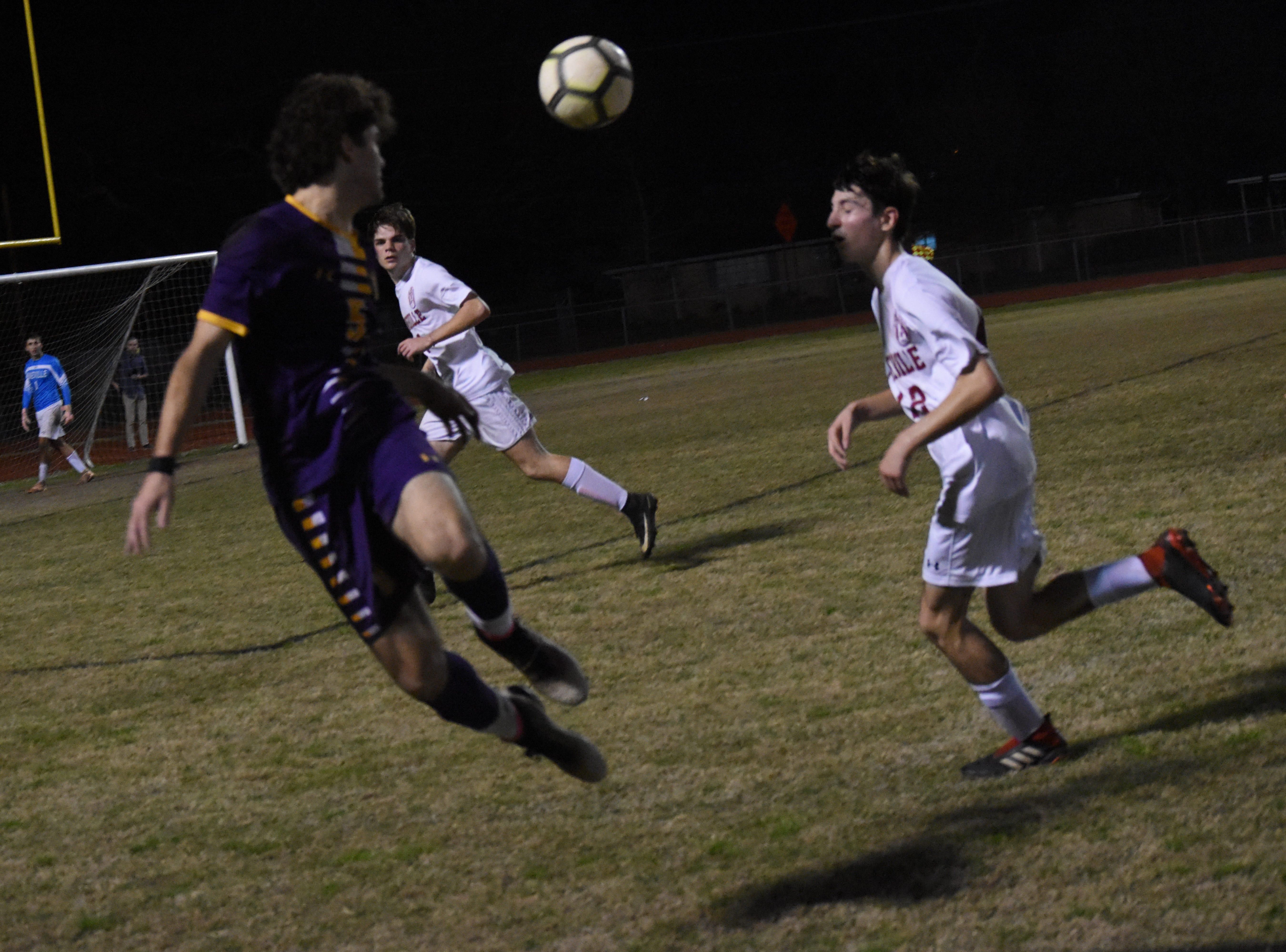 Alexandria Senior High School boys soccer hosted Pineville High School in the Division I regionals held Wednesday, Feb. 6, 2019. ASH won 4-3.