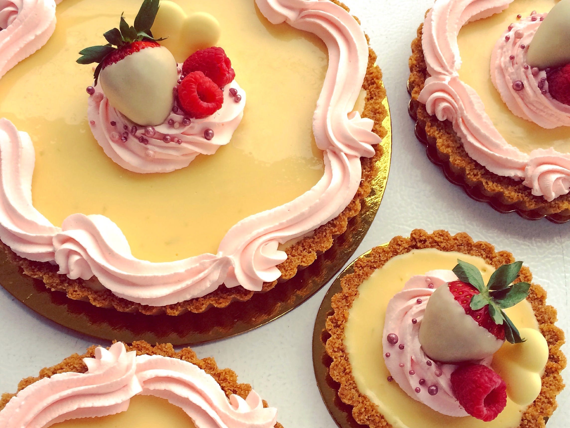 The Valentine's Day Key Lime Tart  from The Flaky Tart in Atlantic Highlands.