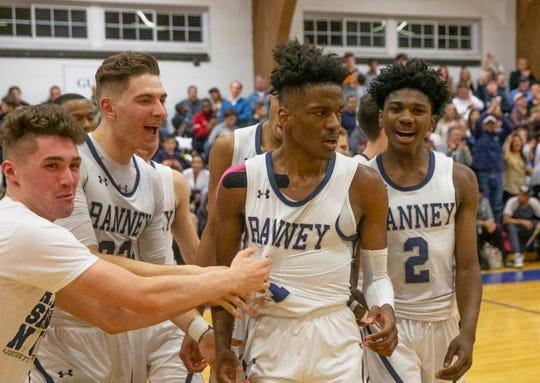 Ranney's Mater Dei Boys Basketball vs Ranney School in Tinton Falls, NJ on February 6, 2019.