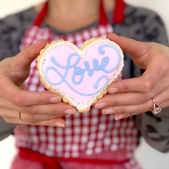 Conversation heart cookies from The Flaky Tart in Atlantic Highlands.