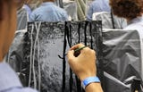 Bob Ross, famous painter and internet meme legend, inspired a group of Madison Middle School pre-Advanced Placement art students to gather and paint