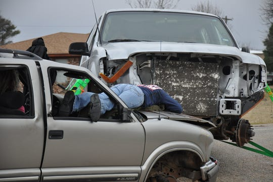 The Shattered Dreams program at Jim Ned High School on Thursday portrayed a crash involving alcohol. One passenger ejected from the vehicle was pronounced dead at the scene.