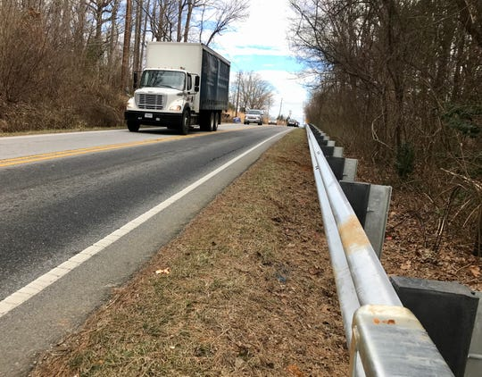 The new guard rail along Mills Gap Road cost $219,000. The N.C. DOT is installing the rail an interim safety measure before the road is widened in 2020. The rail will be reused then.