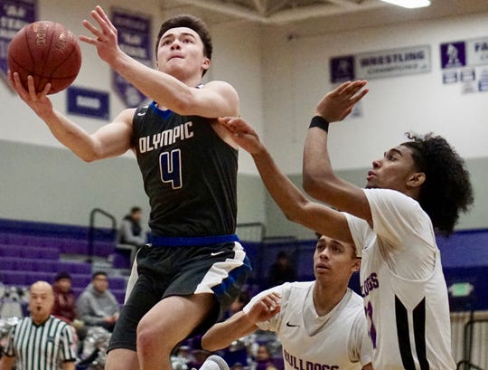 Olympic senior Brandon Barron will be one of the top players competing at the West Sound Senior High School All-Star Basketball event on March 12 at Olympic College's Bremer Student Center.