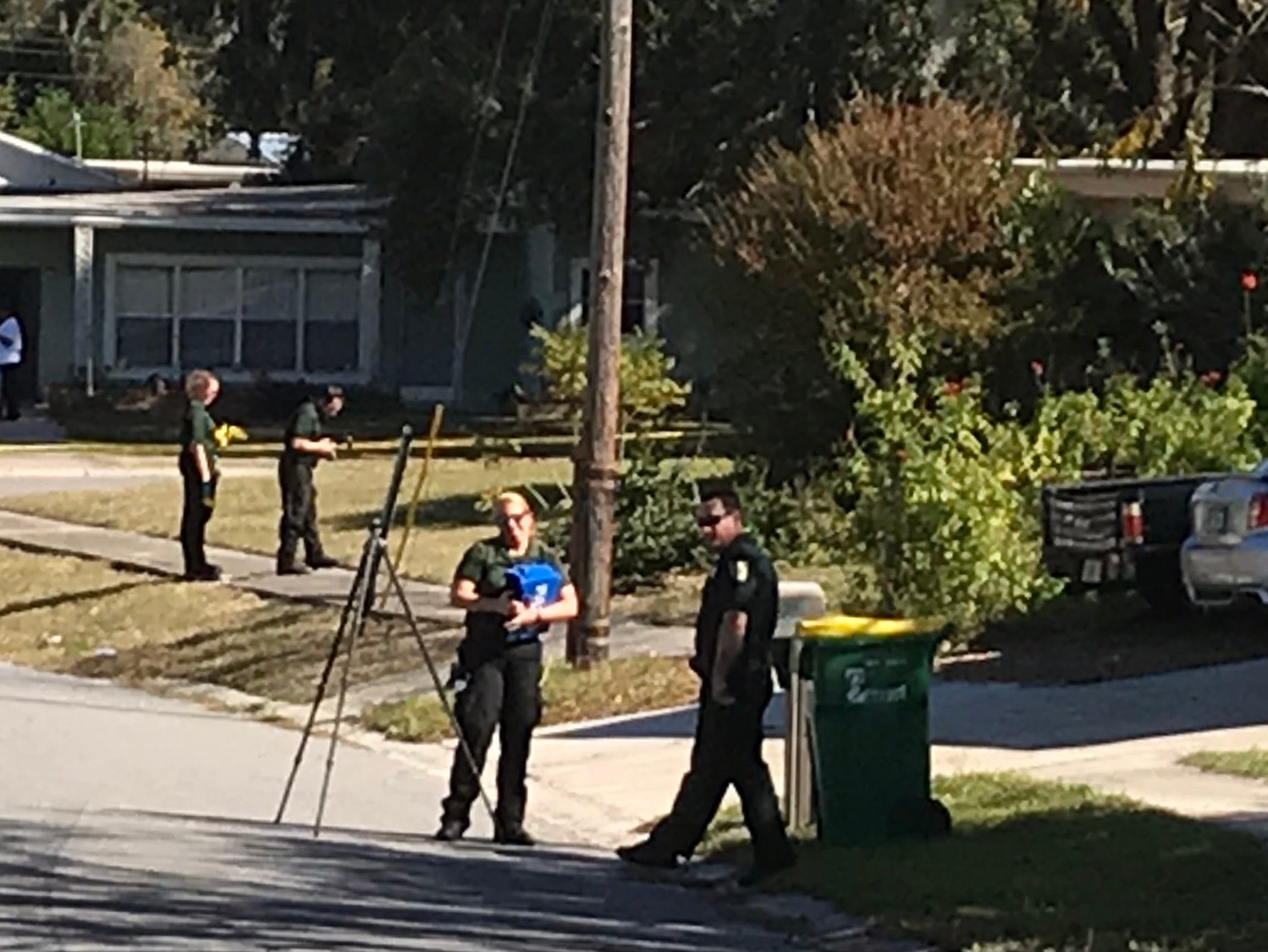 Brevard County sheriff's deputies are investigating a possible home invasion and shooting in Mims.