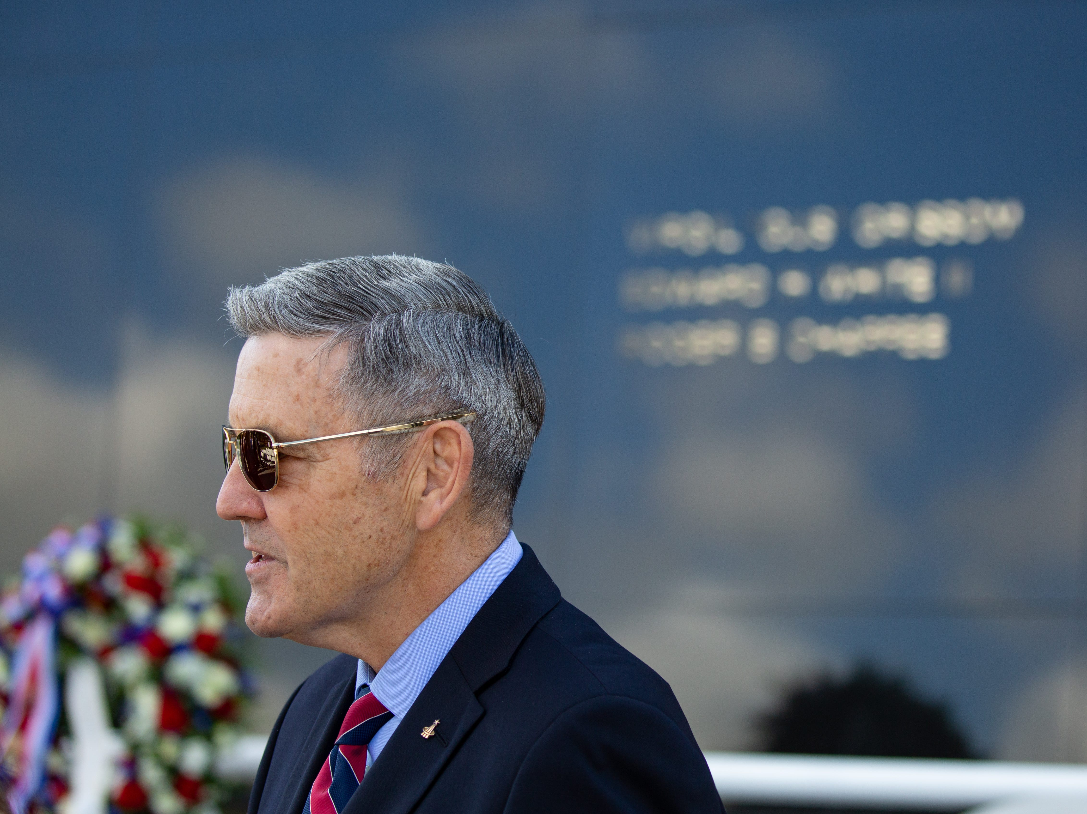 Kennedy Space Center Director Bob Cabana is seen at the Space Mirror Memorial for NASA's Day of Remembrance on Thursday, Feb. 7, 2019. The national event remembers fallen astronauts.