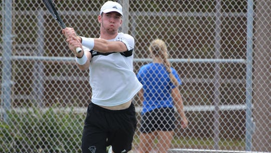 FIT's tennis team in action.