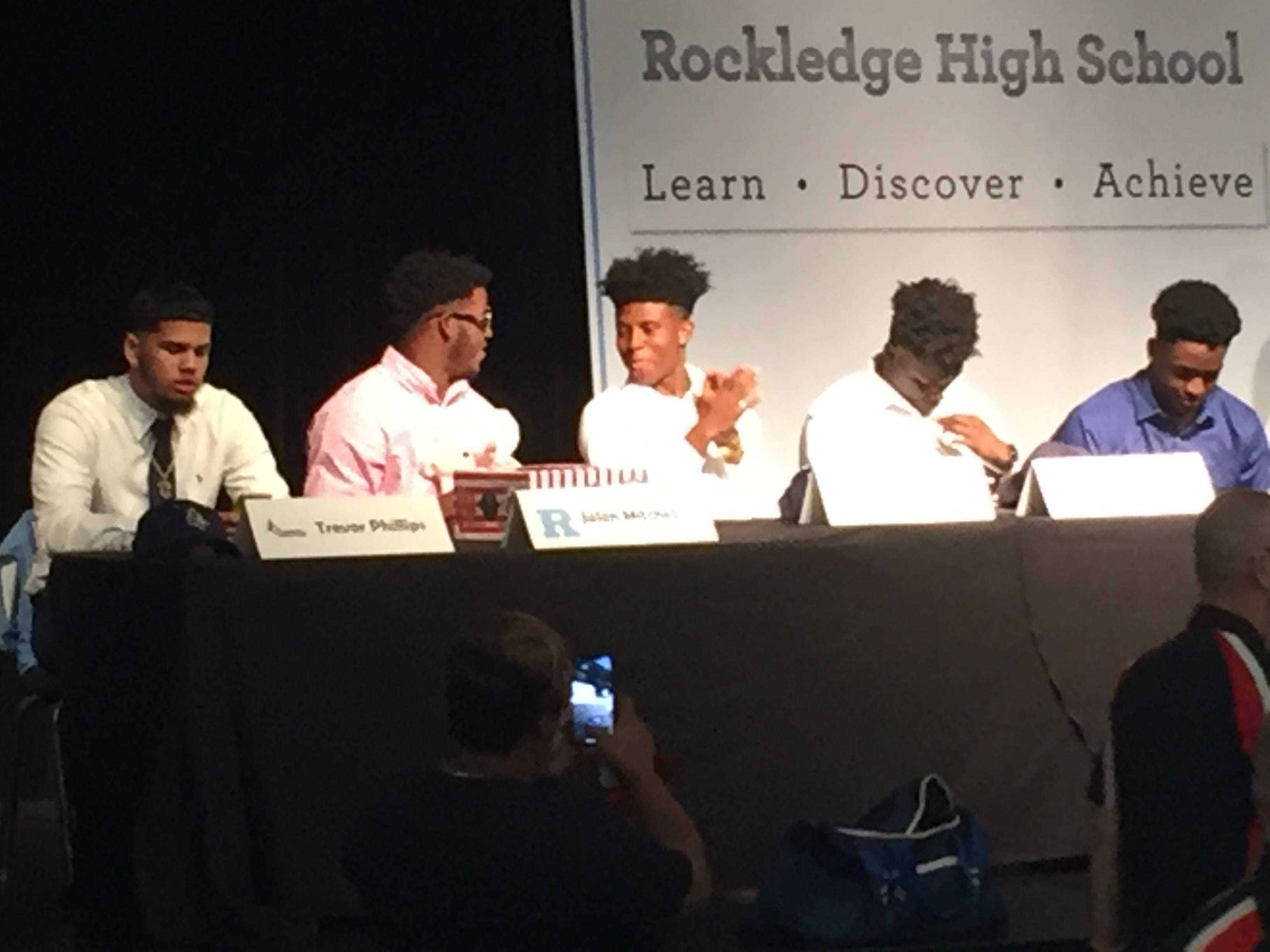 Several Rockledge football players announced college choices on Wednesday.