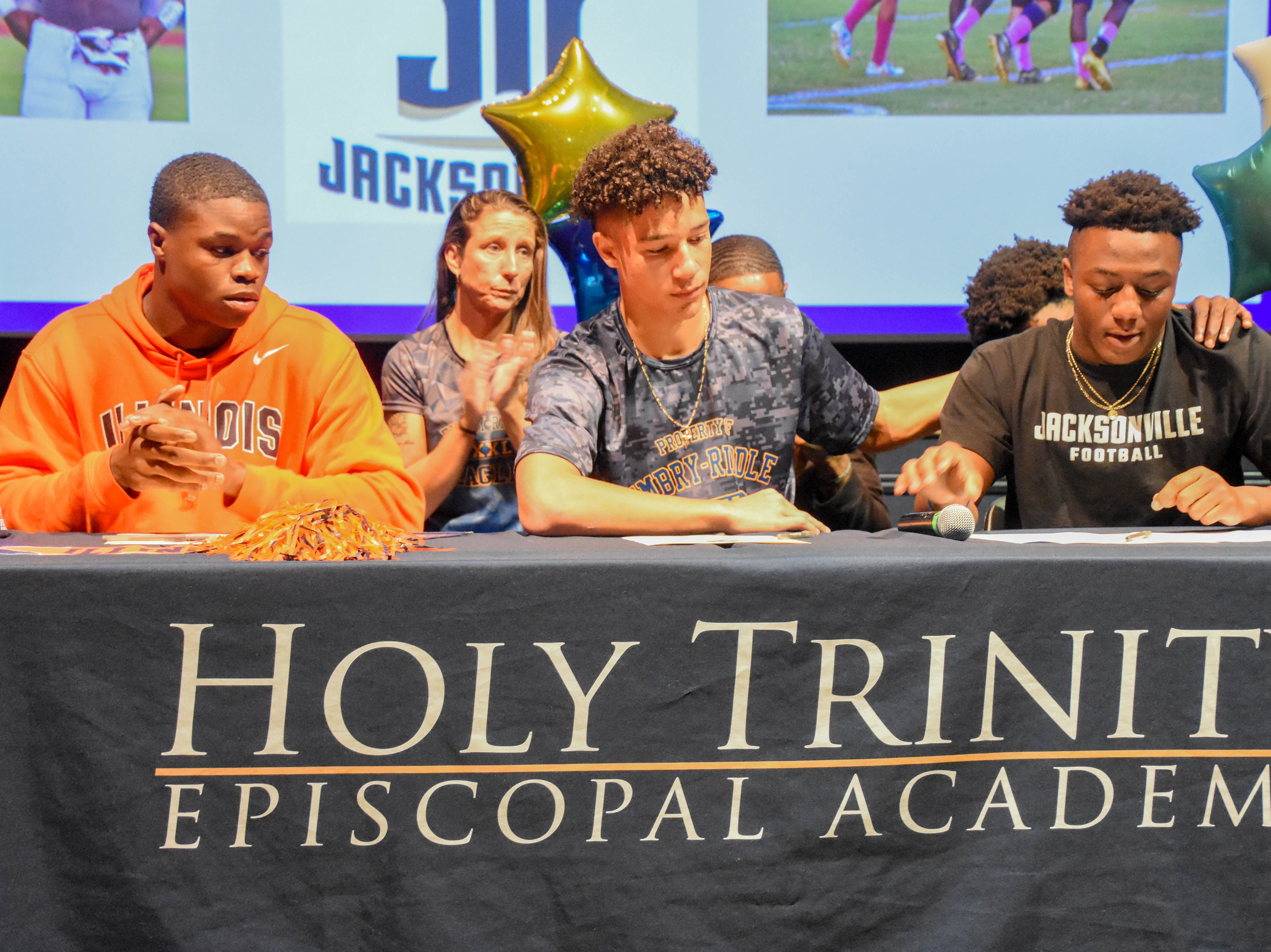 Holy Trinity seniors sign nationall letters of intent. Courtesy of Holy Trinity.