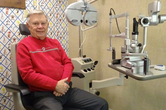 Dr. Wayne Collier celebrated his 50th year of practicing optometry in Bucyrus on Wednesday at Premier Optometry Group.