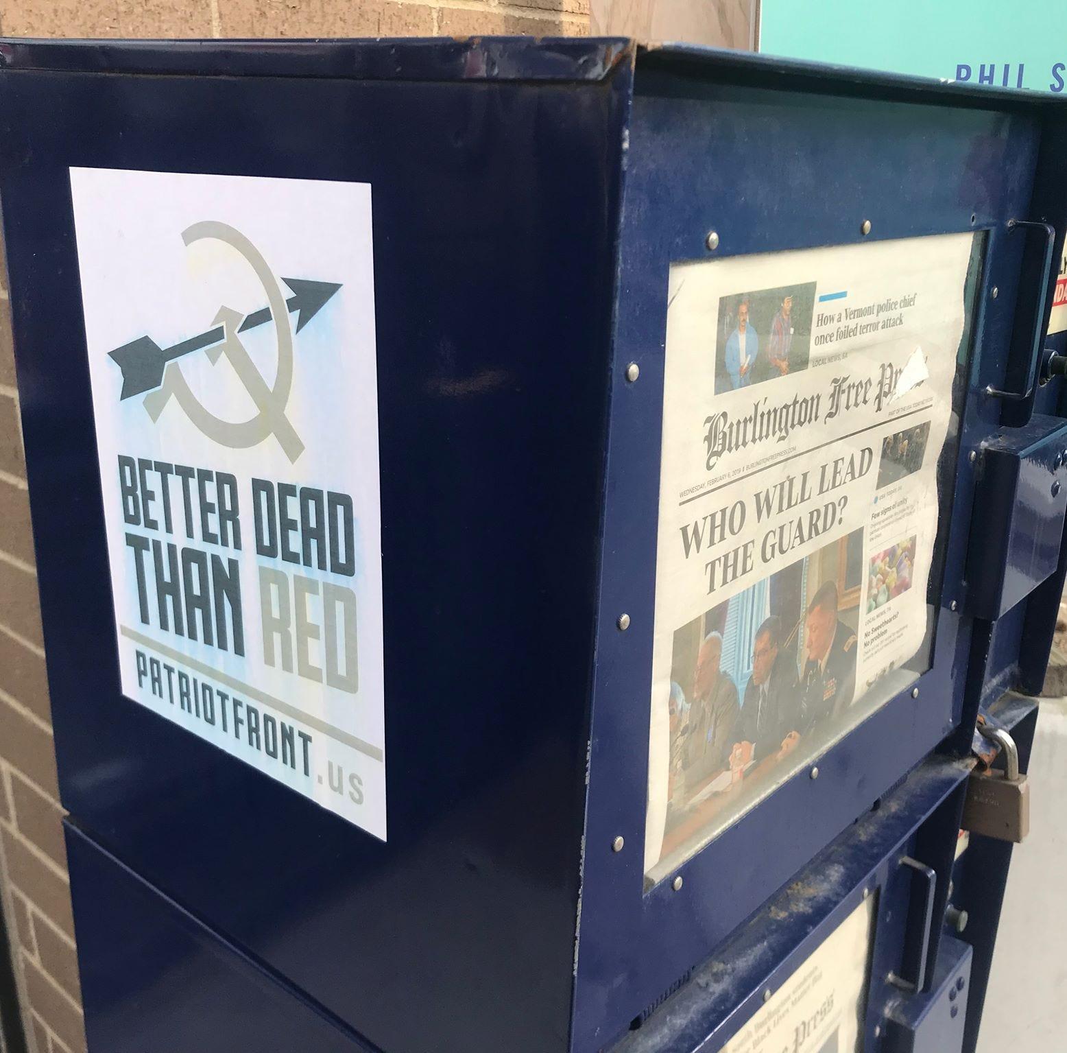 Police, prosecutor find 'no crime' after investigating Patriot Front posters in Burlington