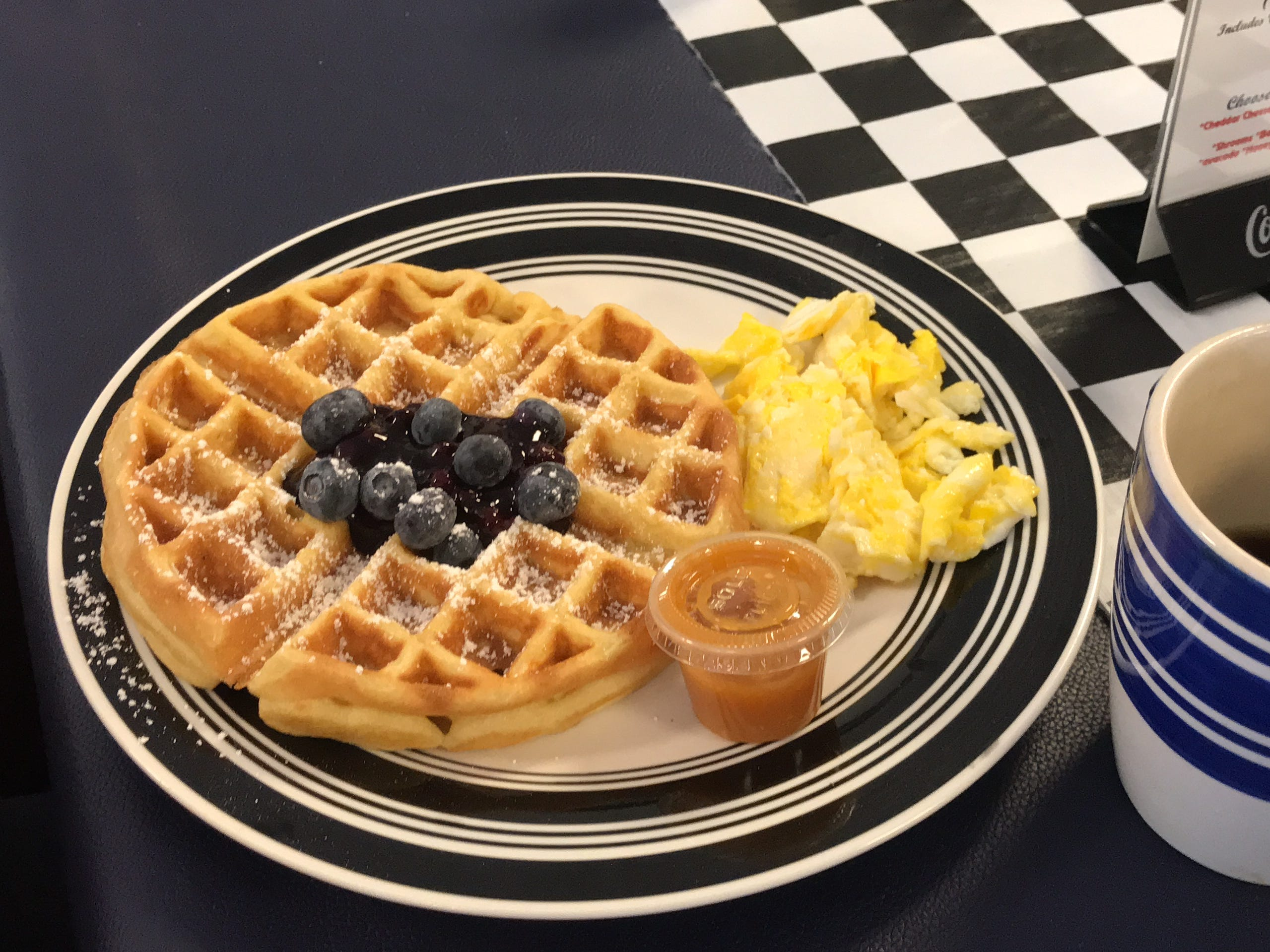 Sandi's Diner is known for their homemade waffles and breakfast all day menu.