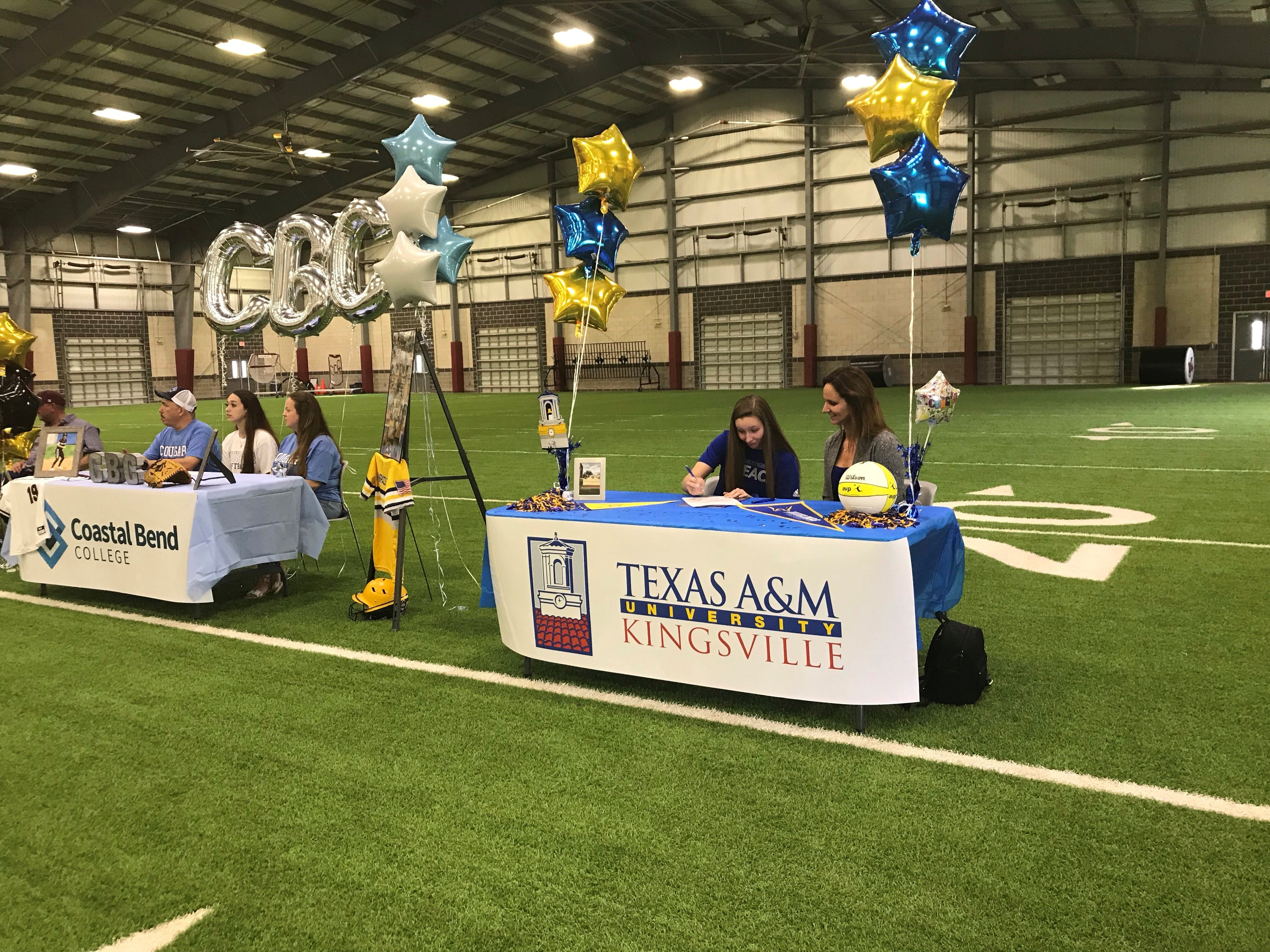 Adrienne Vanbrunt signed with Texas A&M University-Kingsville on Wednesday, Feb. 6 at Flour Bluff's athletic facility.