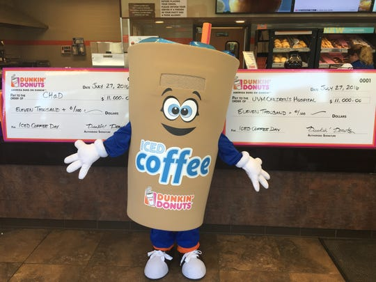 The Dunkin' mascot known as Cuppy will make an appearance at the Medford grand opening.
