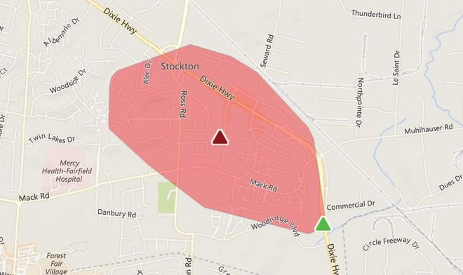 Adverse weather has knocked out power for more than 2,000 Duke Energy customers in Fairfield Thursday.