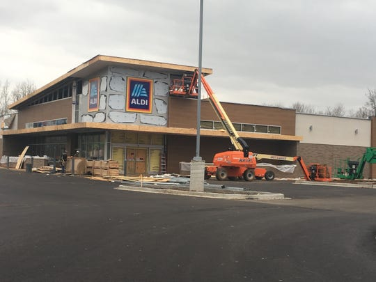 A replacement Aldi store is nearing completion on Fort Campbell Boulevard.
