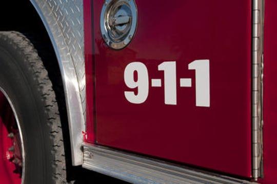 A Homer firefighter was flown to Columbus Wednesday evening after an apparent seizure and fall.