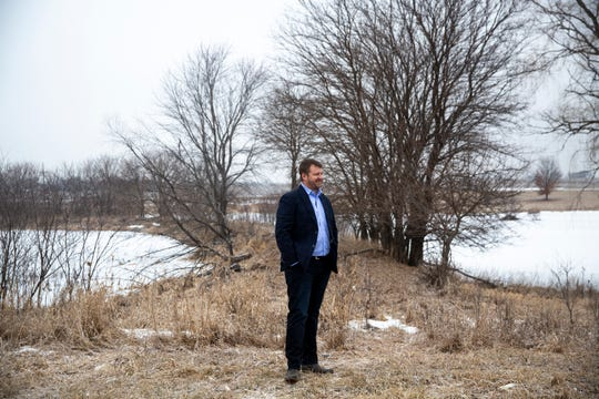 Steve Bruere, president of Diligent Development, stands on the land he's proposed be used for an agrihood development that would bring more housing to Cumming, on Wednesday, Feb. 7, 2019, in Warren County. An agrihood is a housing development built around an agricultural center and would provide the residents with a closer connection to their food.