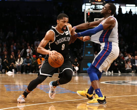 Nets guard Spencer Dinwiddie is averaging 17 points and five assists, but is out after right thumb surgery.