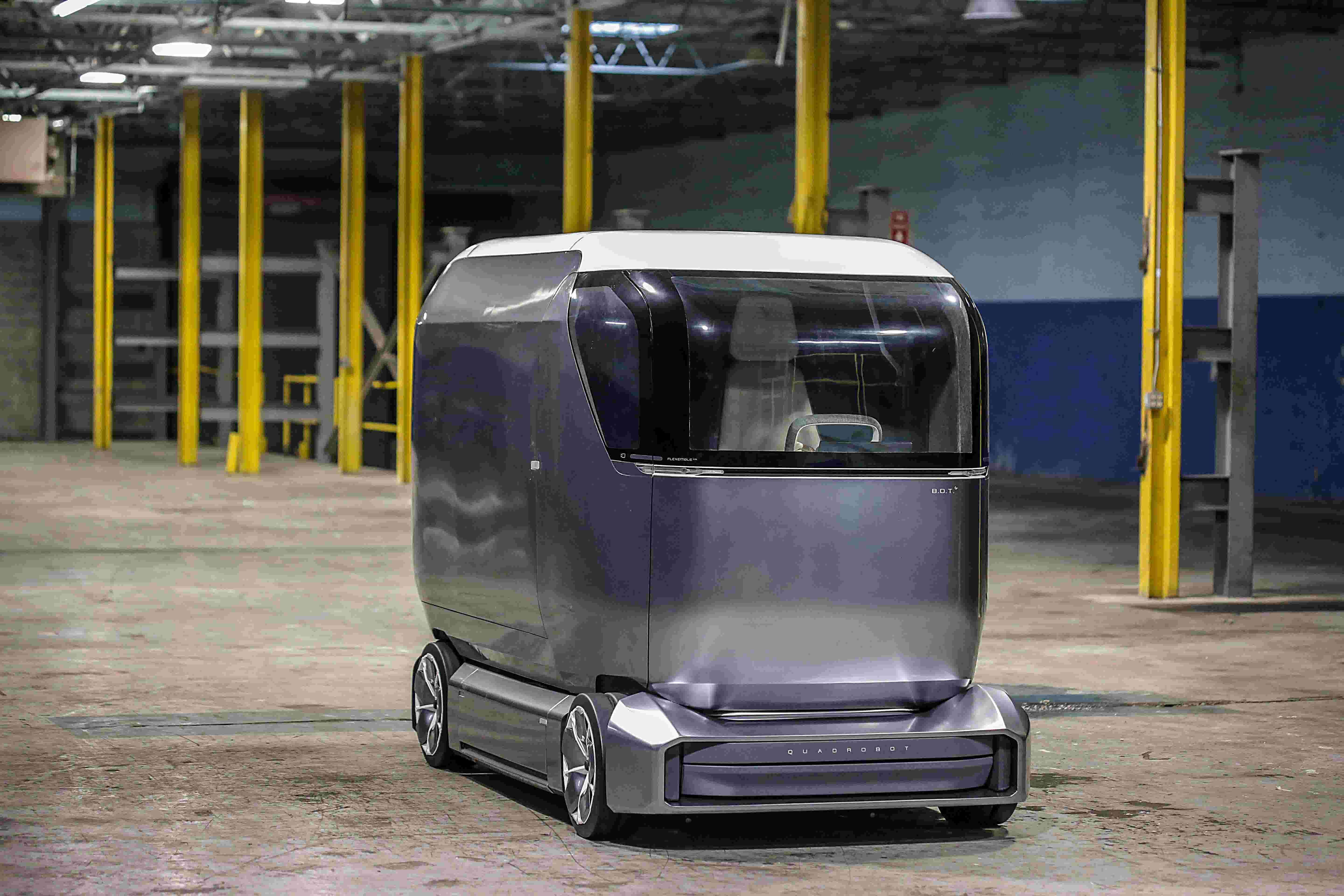 Robot mail delivery truck is made in Detroit