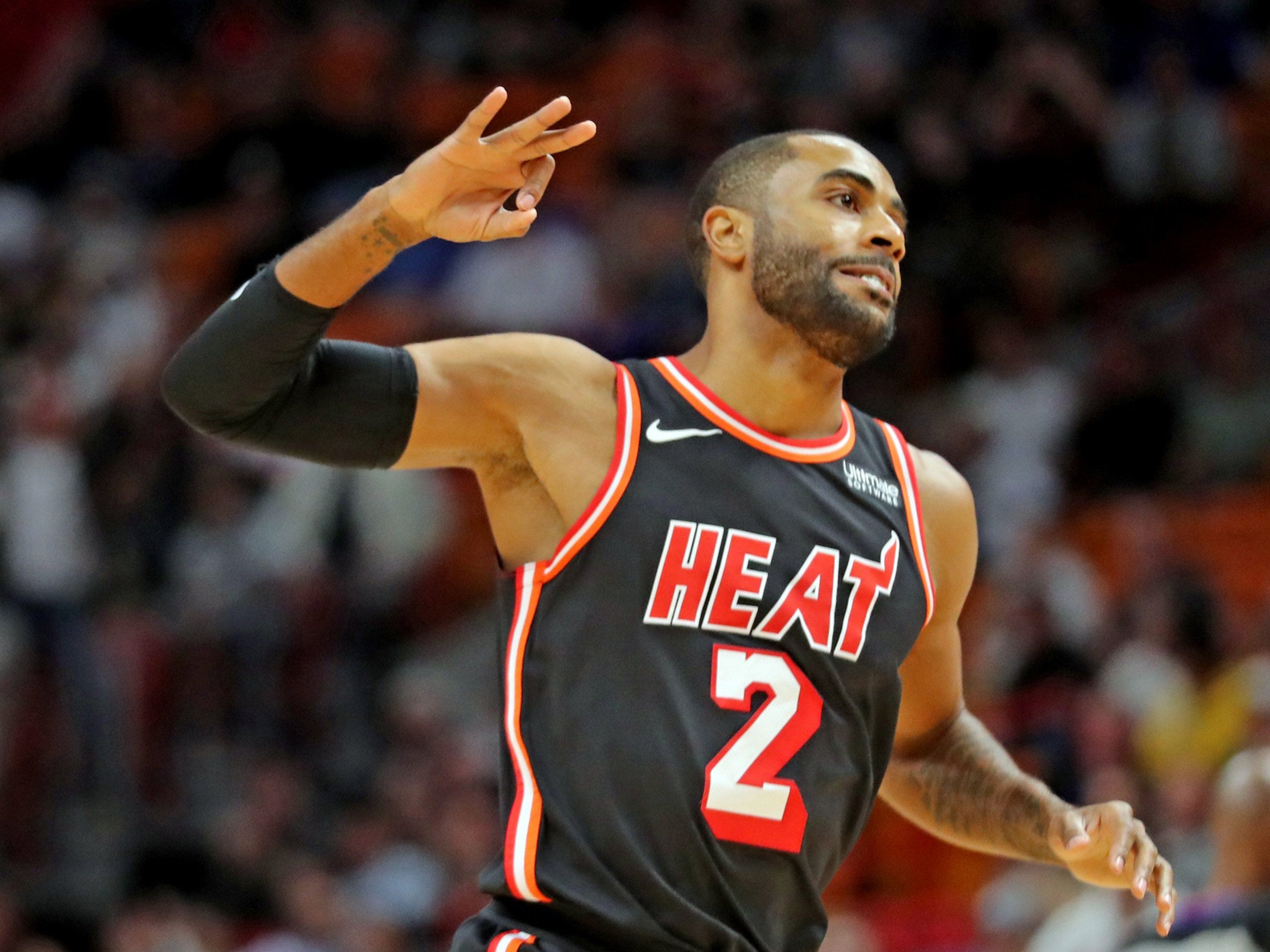 Miami Heat guard Wayne Ellington.