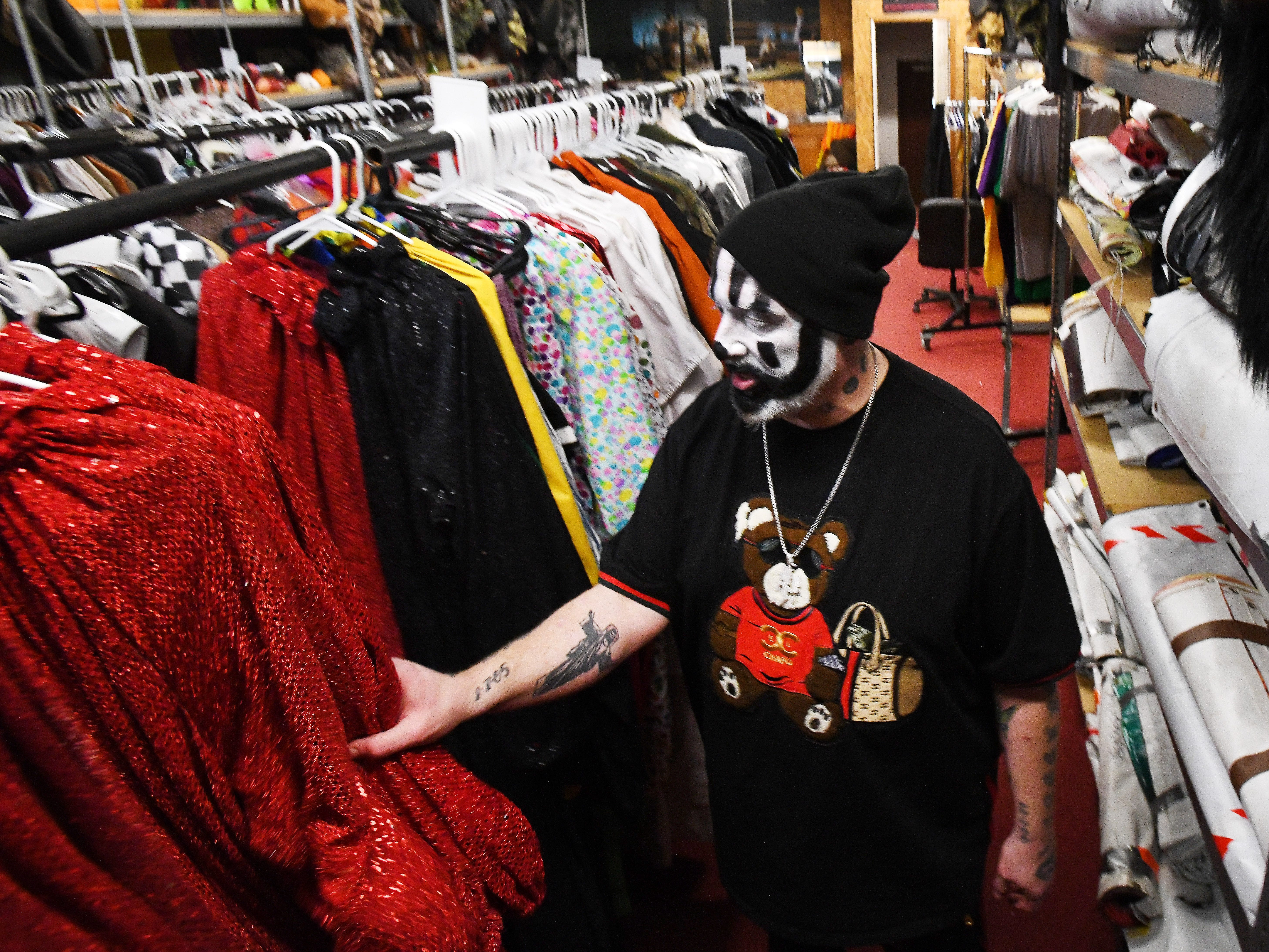 Violent J, aka Joseph Bruce of Insane Clown Posse, shows where outfits and various paraphernalia from their elaborate shows and tours are stored.