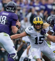Michigan defensive lineman Chase Winovich finished his final season with 17 tackles for loss to lead the Wolverines.