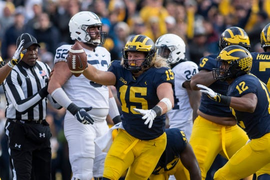 Michigan defensive lineman Chase Winovich is preparing for the NFL Combine after missing the Senior Bowl with an injury.