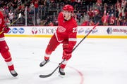 Red Wings rookie Michael Rasmussen played three games for the Grand Rapids Griffins.