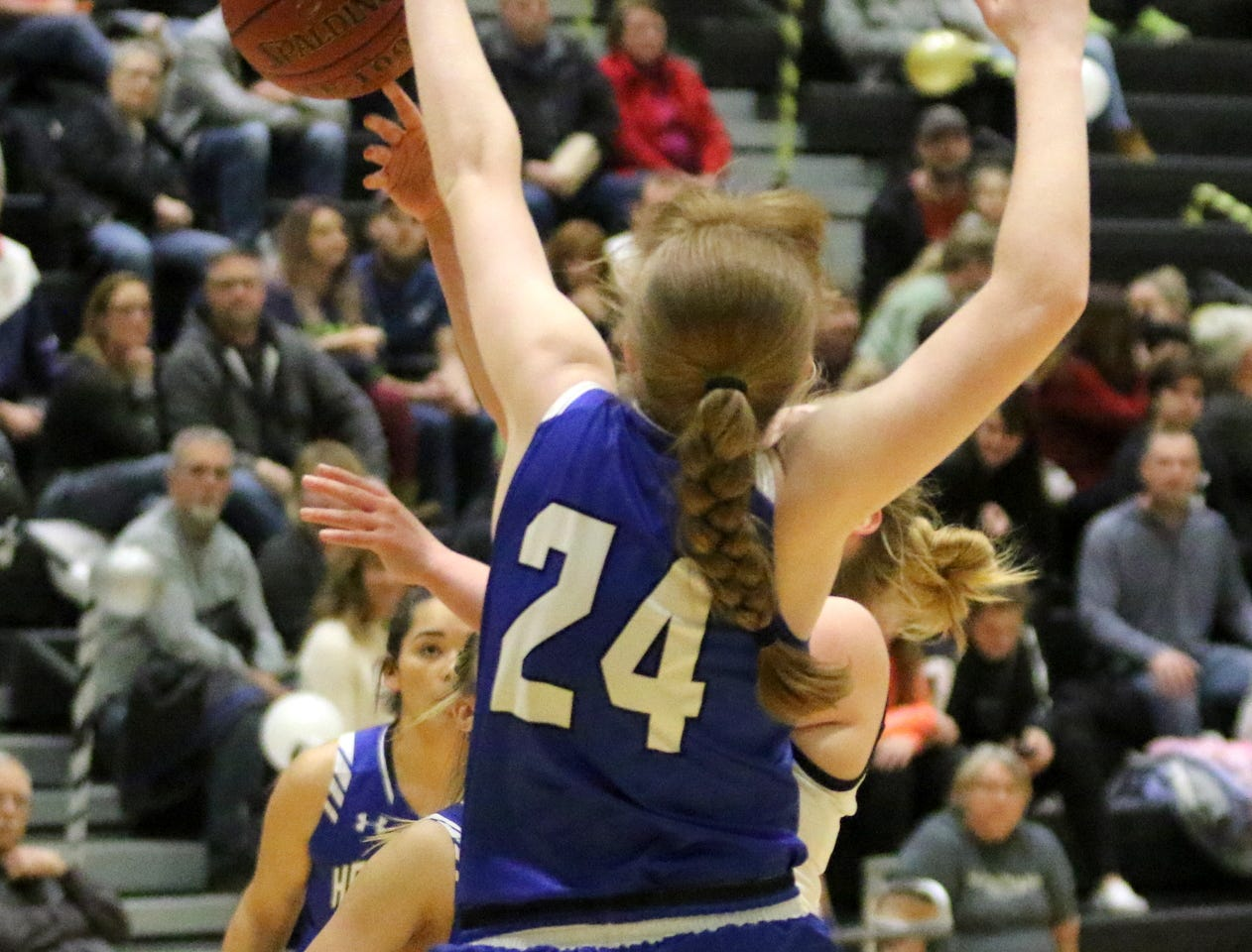 Action from the Horseheads' girls basketball team's 50-24 victory over Corning on Feb. 6, 2019 at Corning-Painted Post High School.