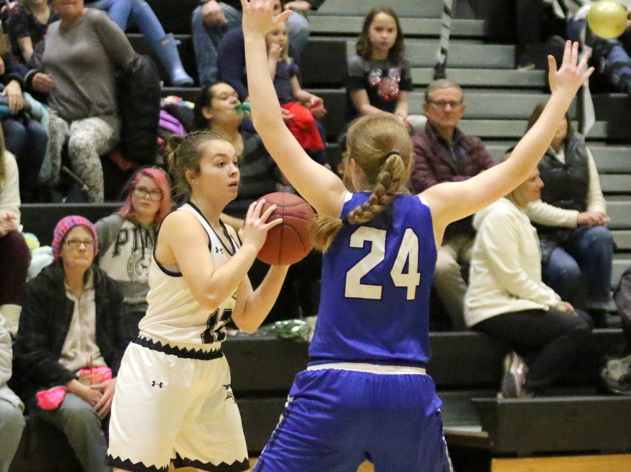 Action from the Horseheads girls basketball team's 50-24 victory over Corning on Feb. 6, 2019 at Corning-Painted Post High School.