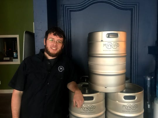 Myriad Brewing Company's Head Brewer Max King is excited to work for a small brewhouse.