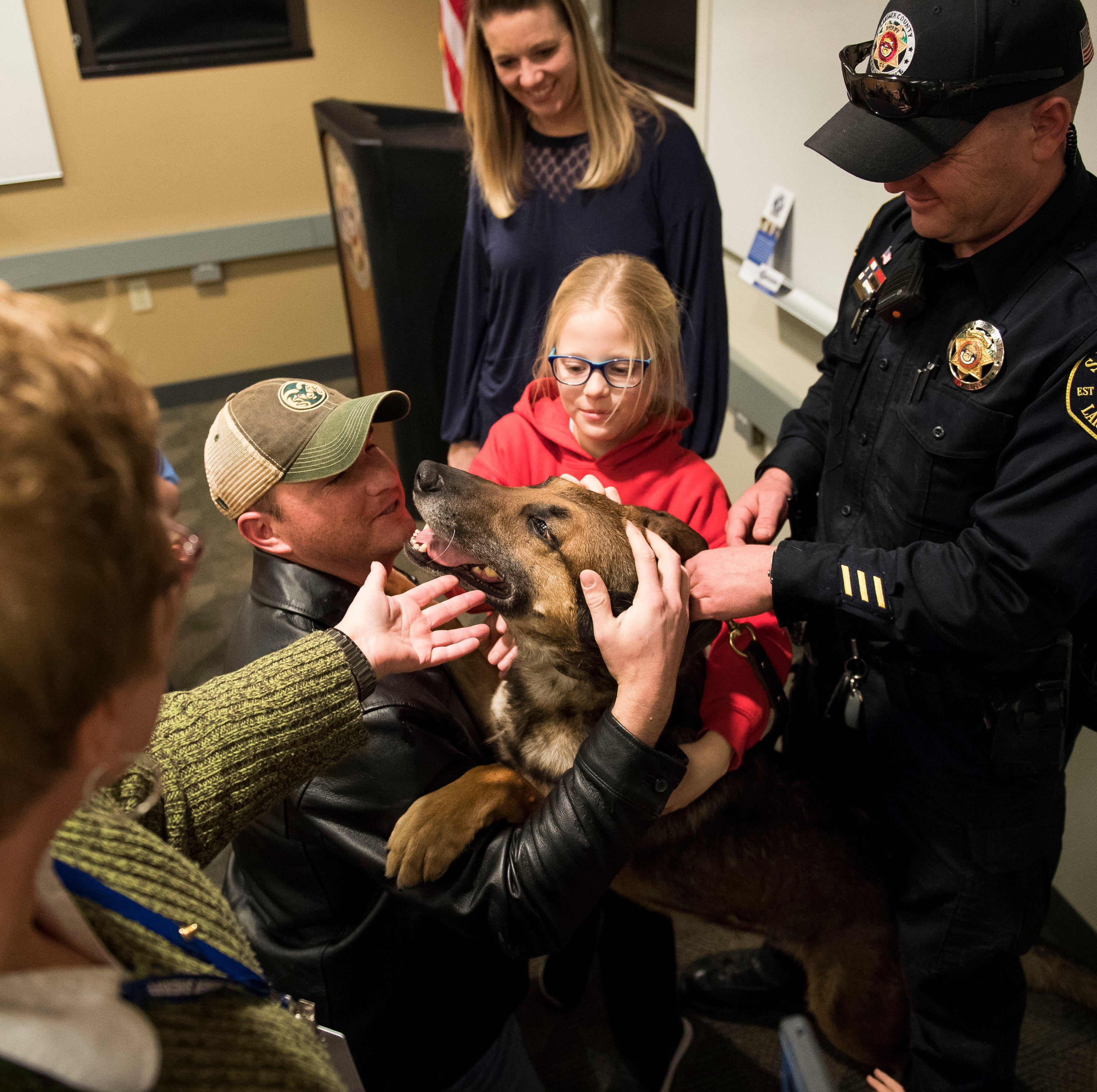Colorado K-9 deputy Ryker retires after 7 years of sniffing for suspects