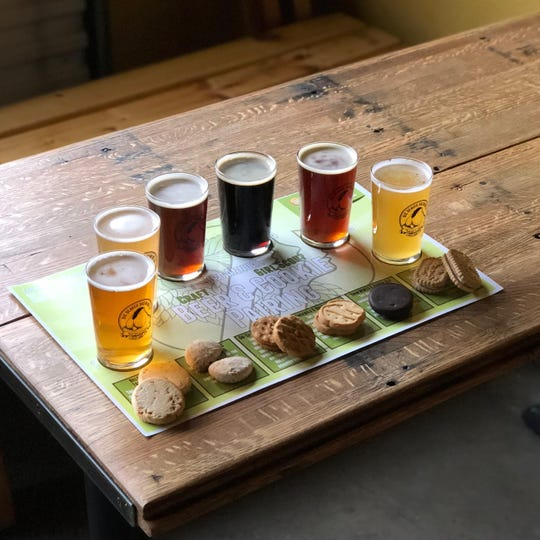 A Girl Scout cookie beer pairing at Big Beaver Brewing in Loveland.